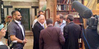 ورود رئیس رژیم صهیونیستی به مسجد ابراهیمی در «الخلیل»+ عکس