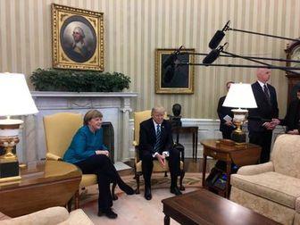امتناع ترامپ از دست دادن با مرکل! /فیلم