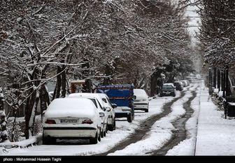 بارش برف در ارتفاعات جاده چالوس