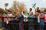 استقبال دوستداران ایران اسلامی از روحانی در فرودگاه
