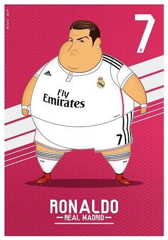 بازیکنان رئال مادرید چاق شوند چه شکلی می شوند؟