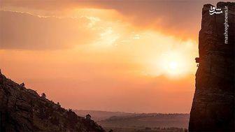 چرا هنگام غروب خورشید آسمان قرمز میشود؟