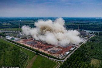 تخریب برجهای نیروگاهی هستهای آلمان+ تصاویر