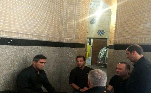 حضور کریمی مختاباد و عابدزاده به همراه مدیرعامل استقلال