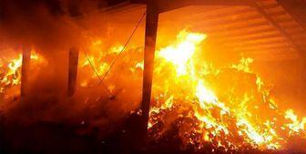آتش سوزی در یک مجتمع تجاری در بلوار کوهک