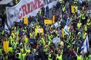 ادامه اعتصاب و تظاهرات در فرانسه