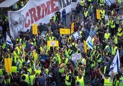 اعتراضات جلیقه زردها در اراضی اشغالی