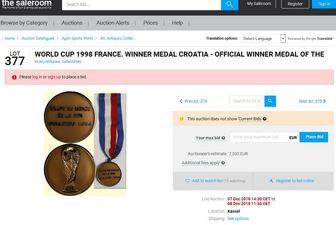واکنش بلاژویچ به مزایده مدال برنز جام جهانی ۱۹۹۸