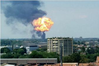 انفجار مهیب فرودگاهی در ایتالیا را به لرزه درآورد