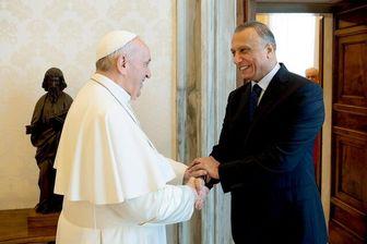 دیدار الکاظمی با پاپ و نخست وزیر ایتالیا