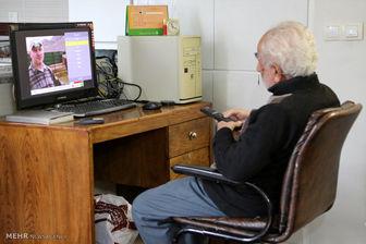 فعالیت پدر شهید ۹۰ ساله در فضای مجازی!