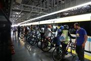 حضور دوچرخه ها در متروی تهران