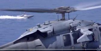 تصاویر انبیسی از رویارویی قایق تندروی ایرانی و ناو آمریکایی در خلیج فارس