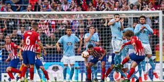 اتلتیکو فاصلهاش با بارسا را به 9 امتیاز رساند