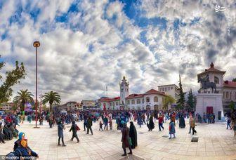 تصویر زیبا از میدان شهرداری رشت