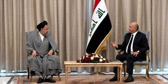دیدار وزیر اطلاعات ایران با رئیسجمهور عراق