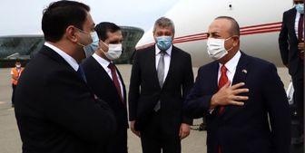 وزیر خارجه ترکیه وارد «باکو» شد