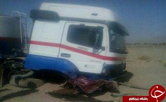 4 کشته و مجروح در برخورد شدید تریلی نفتکش با تویوتا +عکس