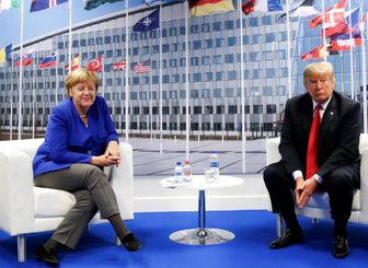 دیدار مرکل و ترامپ در حاشیه نشست ناتو