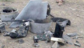 سرنگونی پهپاد جاسوسی عربستان در یمن / عکس