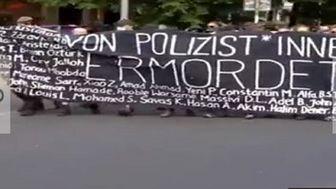 تظاهرات صدها نفر علیه خشونت پلیس در آلمان