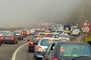 ترافیک سنگین در جاده های شمالی کشور/۱۴ محور مواصلاتی مسدود و ۱۸ محور مواصلاتی محدود است