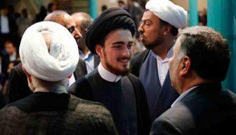 سید احمد خمینی در پیاده روی اربعین/ عکس