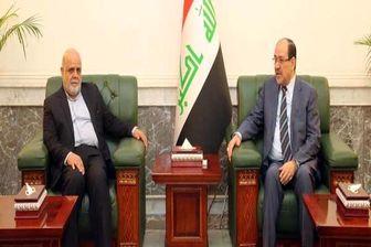 رایزنی مالکی با سفیر ایران در عراق