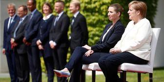 استقبال متفاوت مرکل از نخستوزیر دانمارک+ تصاویر