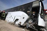 حادثه برای اتوبوس حامل خبرنگاران در آذربایجانغربی