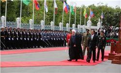 استقبال رسمی نخست وزیر تایلند از روحانی