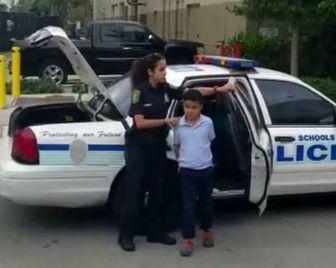 بازداشت دانش آموز 7 ساله آمریکایی به جرم کتک زدن معلم/ عکس