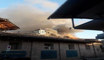 آتشسوزی شدید در مسجد جامع ساری +تصاویر