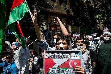 تجمع در محکومیت جنایات رژیم صهیونیستی/گزارش تصویری