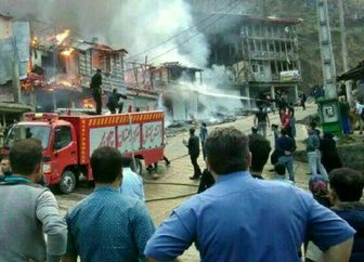 هتل پارس اهواز آتش گرفت