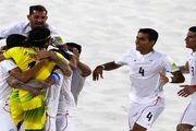 پرچم ایران در امارات برافراشته شد/ اسپانیا هم مقابل ایران زانو زد