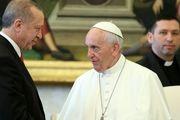 درخواست اردوغان از پاپ برای کمک به پایان دادن به جنایات صهیونیستها