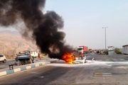 تصادف مرگبار در عسلویه/ 6 نفر زنده زنده در آتش سوختند