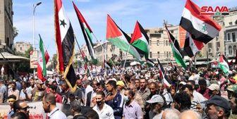 راهپیمایی روز قدس در دمشق