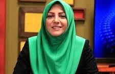 سلفی خانم مجری با رئیس مجلس /عکس