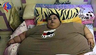 چاق ترین زن جهان برای لاغری راهی هند شد
