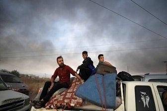خروج حدود ۱۰۰۰ غیر نظامی سوری از ادلب