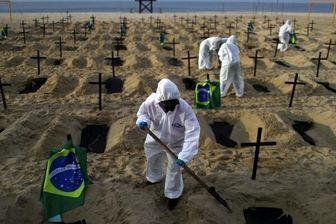 آمار روزانه قربانیان کرونا در برزیل از ۴۰۰۰ نفر فراتر رفت