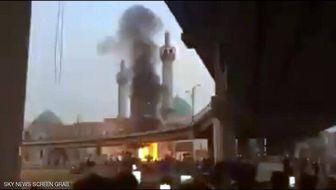 آتشزدن بخشی از آرامگاه محمد باقر حکیم در نجف