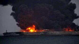 نجات تعدادی از مفقودین حادثه برخورد کشتی ایرانی و چینی