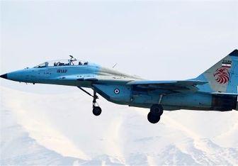فرود اضطراری جنگنده ارتش در همدان