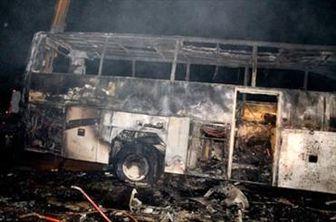 باز هم آتش سوزی اتوبوس اسکانیا