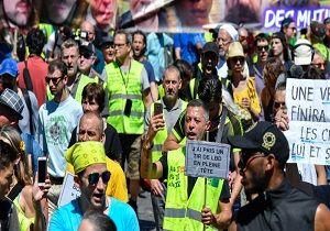 ادامه اعتراضات جلیقهزردها در هفته سیونهم