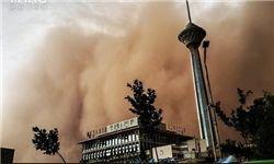 وزش باد شدید به همراه گرد و خاک در تهران