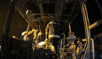 تصادف زنجیرهای تانکر حمل سوخت در سنندج /مرگ ۱۳ سرنشین